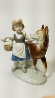 Piroska /kékben :)/ és a Farkas,régi német porcelán figura