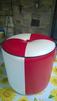 Retro puff-ülőke-lábtartó klasszikus 70-es évek 34x34 cm