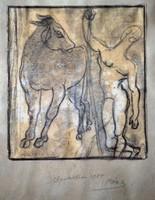 Pór Bertalan (1884-1964): A bika és a férfi
