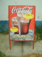 Retro Coca-cola reklám tábla - két oldalas