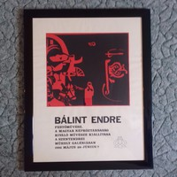 Bálint Endre: Szentendrei iállítási plakát, szitanyomat