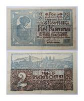 2 korona Pécs Városi szükségpénz   1920