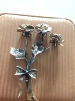 Antik Ezüst Rózsa Virágcsokor  Eladó Vagy Csere Is LEÁRAZVA !