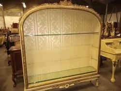 Antik barok XVI.Lajos könyves szekrény 164x190x32cm