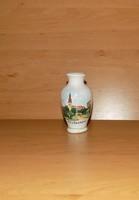 Bodrogkeresztúri kerámia váza Mezőberény emlék 9 cm (28/d)
