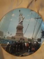 Csodás  JELZETT USA TÁNYÉR 1986    26 CM ÁTM