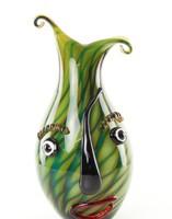 Murano style absztrakt üveg váza