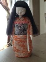 Régi Japán kézzel készített baba