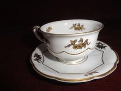 HUTSCHENREUTHER SELB Bavaria német porcelán antik kávéscsésze + alátét.
