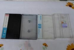 Kazettatok - retro műanyag tok kazettához (vegyes)