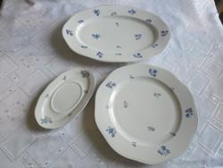 Régi virágmintás tálaló porcelánok