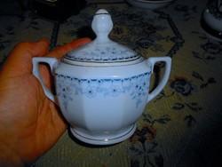 Antik cseh porcelán cukortartó
