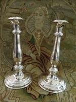 Antik ezüst gyertyatartó pár Bécs 1858