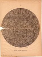 A déli csillagos égbolt 1885, Magyar Lexikon, Rautmann Frigyes, csillagászat, térkép, csillag, ég