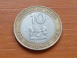 KENYA 10 SHILLINGS 1997 ARAP MOI BIMETÁL