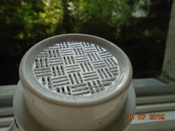 ANTIK Nagyon ritka két részes kávé szűrő bögre kézzel festett Meisseni Kék hagyma mintával