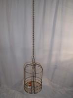 Fém - dekorkalitka - virágtartó - vagy tetszés szerint díszíthető - 18 x 13 cm + lánc 70 cm