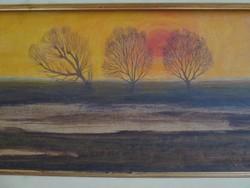 Kuruz D István (1914-1996 ) festmény