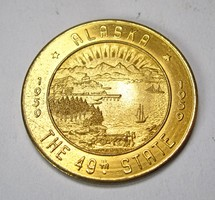 Alaszka a 49. állam emlékérem 1959