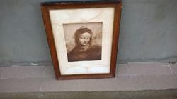 Egy izgalmas régi nyomat Leonardo da Vinci nyomán