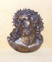 Jézus fém falidísz, kép