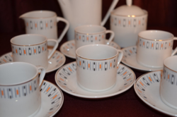 Retro Hollóházi kávés készlet  ( DBZ 00118 )