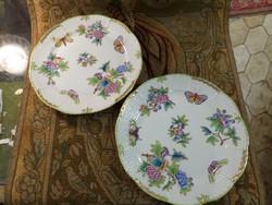 Viktória mintás herendi lapos tányér