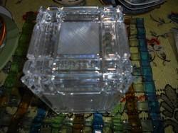 Csiszolt üveg boboz-szép kézműves munka- súlyos-nehéz darab