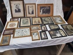 Antik,régi fényképek keretben