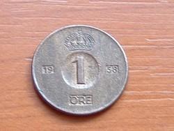 SVÉD 1 ŐRE 1958 TS