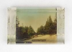 0X737 Antik Tusnádfürdő üveg levélnehezék