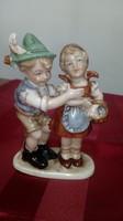 W&A Bertram bájos figurális porcelán páros