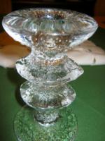 Vintage IITTALA jég üveg gyertyatartó
