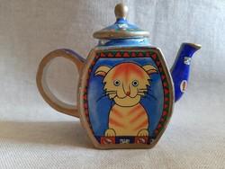 Mini porcelán tea kiöntő