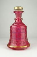 0X720 Monarchia korabeli rózsaszín fújt dugósüveg