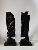 Afrikai házassági szobor- ében fából