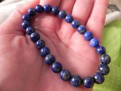 Valódi természetes lápisz lazuli karkötő
