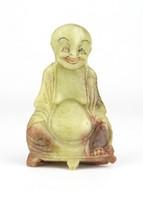 0X721 Antik ritka zsírkő buddha szobor 9 cm