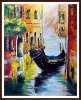 A Velencei lagúna ( olaj, 50 x 40, festőkéses , keret nélkül )
