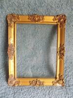 Antik üvegezett blondel képkeret 31*39 cm