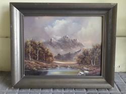 Alpesi táj festmény.