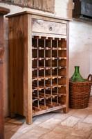 Tömörfa dió borszekrény, bor állvány, bortartó