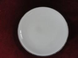 Arzgerg német süteményes tányér, ezüst szegéllyel.