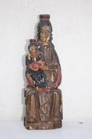 Mária Jézussal régi szobor festett fa pieta