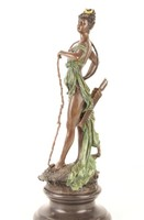 Diána -állatok istennője bronzszobor