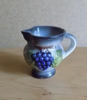 Svájc Viamala-Schlucht emlék kicsi porcelán kancsó szőlőfürt mintás  5,5 cm (2/p)