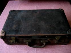 Régi Echt Vulkanfiber kis koffer, bőrönd