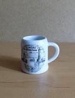 Németország Lindau emlék kicsi porcelán korsó 5 cm (2/p)