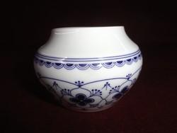 Arzberg német porcelán cukortartó, tető nélkül, kobalt kék mintával.