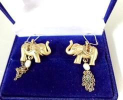 Elefánt fülbevaló tenyésztett gyönggyel